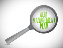 debt management plan magnify review Stock Photography