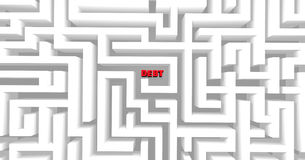 Debt Maze. A maze containing the word Debt, symbolizing the difficulty of modern finances and budgets Stock Photo