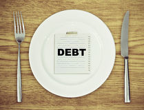Debt meal Stock Image