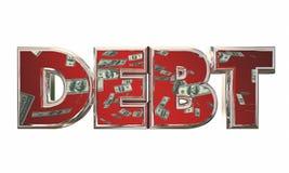 Debt Money Owed Bills Payment Word Royalty Free Stock Image