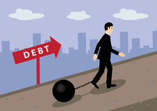 Debt Path Stock Images