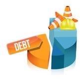 Debt pie chart illustration design Stock Image
