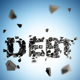 Debt pit abstract composition background Stock Photos