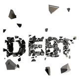 Debt pit as word crashed and broken Royalty Free Stock Photos