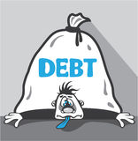 Debt Pressure Royalty Free Stock Photography