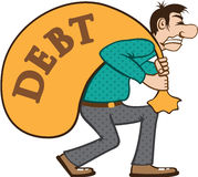 Debt pressure / load struggle Stock Photos