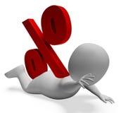 Debt Problem Shows Percentage Sign  Royalty Free Stock Photos