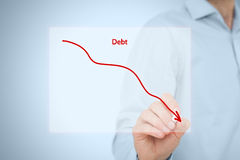 Debt reduction Royalty Free Stock Photos