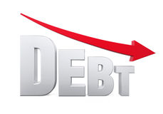 Debt Reduction Concept Royalty Free Stock Photo