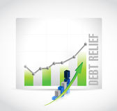 debt relief business graph illustration design Royalty Free Stock Image