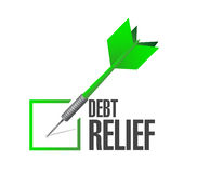 Debt relief check mark illustration design. Over a white background Stock Photos