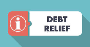 Debt Relief Concept in Flat Design. Stock Photo