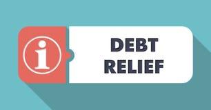 Debt Relief Concept in Flat Design. Stock Photo