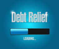 Debt relief loading bar illustration design. Over a blue background Royalty Free Stock Images