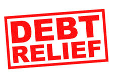 DEBT RELIEF Royalty Free Stock Image