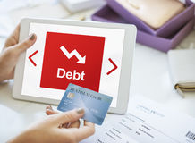 Debt Risk Difficulty Downfall Concept Stock Photo