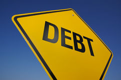 Debt Road Sign Stock Photo