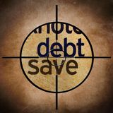 Debt save target Stock Photography