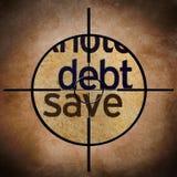 Debt save target Stock Photography