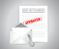 Debt settlement approved concept illustration Stock Photography