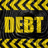Debt sign with some smooth lines Stock Photos
