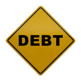 Debt Sign Royalty Free Stock Image