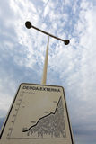 Debt situation sign in Argentina, Memory Park Royalty Free Stock Photo
