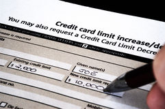 Debt. Spiralling Debt increased credit card limit royalty free stock image