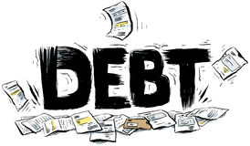 Debt Text Stock Image