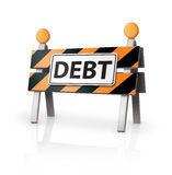 Debt Warning. Digital Illustration concept of Warning of Debt Royalty Free Stock Image