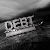 Debt: A Weight on Markets Going Forward Royalty Free Stock Images