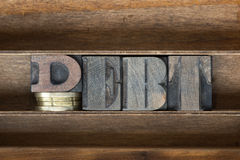 Debt wooden tray Stock Image