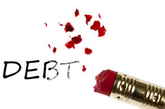 Debt word Stock Photo