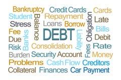 Debt Word Cloud Stock Photo