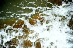 Debth di colore scuro dell'acqua fotografia stock libera da diritti