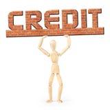 Debtor under the burden of credit Stock Photo