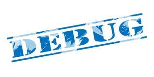 Debug blue stamp Royalty Free Stock Photos