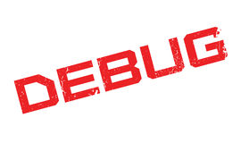 Debug rubber stamp Royalty Free Stock Images