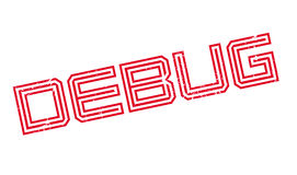 Debug rubber stamp Royalty Free Stock Photography