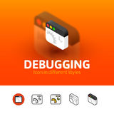 Debugging icon in different style Stock Photography