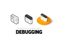 Debugging icon in different style Royalty Free Stock Photo