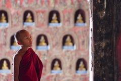 Debuttante al monastero di Shwe Yan Phe Fotografia Stock