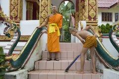 Debuttante buddista nel Laos immagine stock libera da diritti
