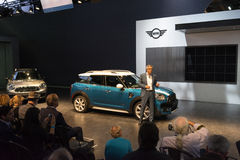 Debutto di Mini Cooper immagine stock