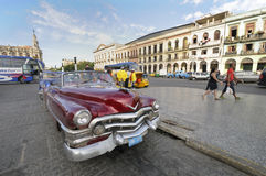 DEC 30, 2009. Old american car in Havana Royalty Free Stock Images