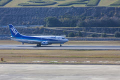19 dec 2015 Airport Nagasaki. Japan. All Nippon Airways ANA ai. Rplane JA301K in airport of Nagasaki NGS Omura Stock Photography