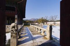 Dec 6,2017 Beautiful party place Gyeonghoeru at Gyeongbok Palace. Seoul ,Korea Stock Photos