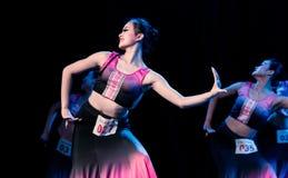 Moonlight Bambusa Multiplex 3 -Dai Folk Dance-Graduation Show of Dance Department. Dec. 22, 2018 Graduation Performance of Dance Department of Jiangxi Vocational royalty free stock photography