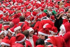 21 Dec 2014 - Kerstman dag Londen Royalty-vrije Stock Afbeelding