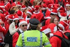 21 Dec 2014 - Kerstman dag Londen Stock Afbeeldingen